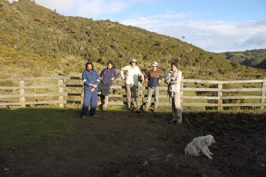 Project Cordillera team, Kenji, Juan Pablo, Ben, Tolima Colombia trek, hiking
