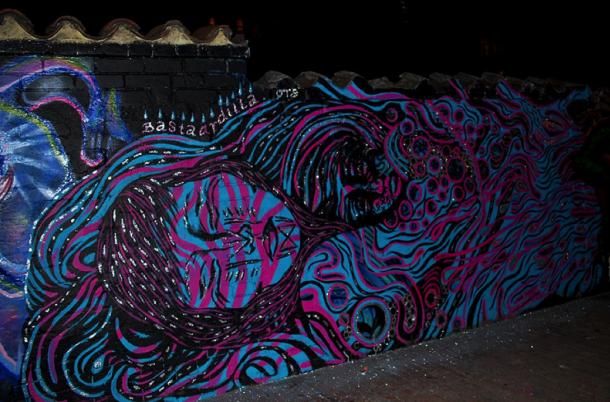 Bogota art by Bastardilla