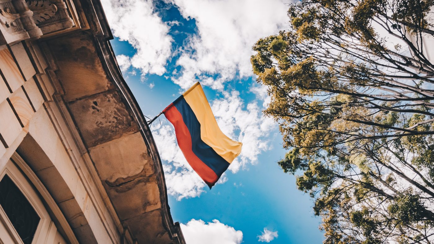 Project Cordillera Colombia Flag. Photo Credit: Flavia Carpio